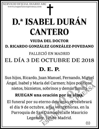 Isabel Durán Cantero